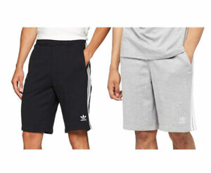 ADIDAS ORIGINALS 3 STRIPES Mens Fleece Shorts Trefoil Summer Casual Bermuda