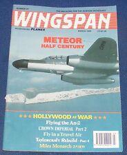 WINGSPAN MAGAZINE MARCH 1993 - METEOR HALF CENTURY