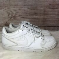 Men's NIKE AIR Prestige IV Size 10.5 White Leather Tennis  Sneakers Great Shoes
