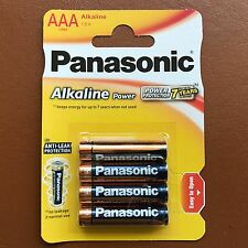 New Panasonic AAA Alkaline High Power Batteries LR03 1.5V AM4 MN2400 - Pack of 4