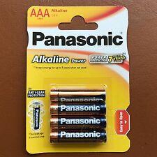 Nuevo Panasonic Pilas AAA alcalinas de alta potencia LR03 1.5V AM4 MN2400-Paquete de 4