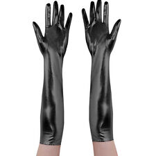 Women Patent Leather Short Gloves Opera Evening Lambskin Punk Clubwear Mittens