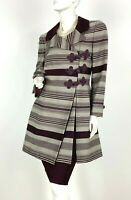 Jacques Fath New w Tags 6 US 42 IT M Wool 2 Pc Suit Skirt Jacket Coat Runway