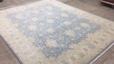 Peshawar chobi oriental area rug new oushak  wool  Afghani  8' X 10' Blue Zigler