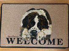 Saint Bernard Welcome door mat