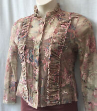 Catalyst Size 10-12 Blouse Top Long Sleeve Gold Evening Occasion Cocktail Party