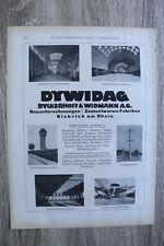 Advertising 1910-30 Dywidag Contractors Biebrich a Rhine Station Construction Concrete Halls