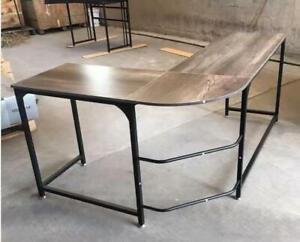 L-Shaped Corner Table Computer Desk Workstation PC Laptop Office 24HR Delivery