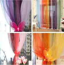 SHEER/ SCARF VALANCE DRAPES Voile Window Panel curtains 10 diff. colors SALE!!