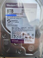 """Western Digital (8TB, 128MB, SATA, 3.5"""", 5640RPM) Internal Hard Drive - Purple"""