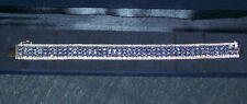Harry Ivens hochwertiges Armband Silber 925 mit 135 x Tansanit Länge 19 cm