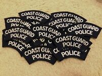 Huge Lot of 19 Vintage Coast Guard Police Patch - USCG