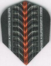 Orange HARROWS SUPERGRIP Dimplex Ribs Dart Flights: 3 per set