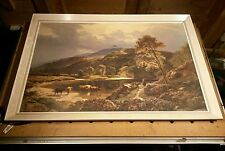 Beautiful 1970's Period Print of 1800's British Art oil on canvas by S R Percy