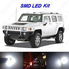 14 x White LED Interior Bulbs + License Plate Lights for 2005-2010 Hummer H3