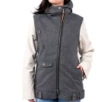 HOLDEN Women's MOTO Snow Jacket - HeatherGrey/Bone - Small - NWT