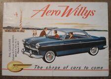 WILLYS orig 1953 USA Mkt Sales Brochure - Aero Ace Falcon Lark Eagle