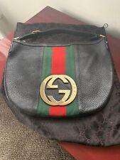 GUCCI Hobo Black Leather Handbag