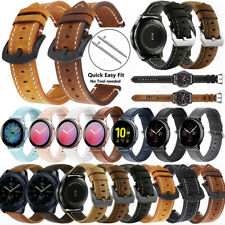 For Samsung Galaxy Watch 42mm 46mm Gear S3 S2 Genuine Leather Wrist Band Strap