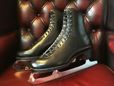 Riedell Royal Red Wing Figure Ice Skates MK Pro Blades Size 7.5 US 6.5 UK 40 EU