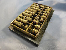 Very Beautiful Unique Chinese Mini Brass Carved Abacus And Marble Base.