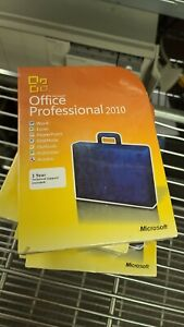 NEW SEALED GENUINE Microsoft Office Professional 2010 PC RETAIL BOX