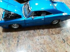 1969 DODGE CHARGER R/T  1:25 Blue Diecast Model by MAISTO