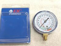 """R134a, FJC, Low-Side, Gauge -30"""" VAC to 0 to 350 PSI #6136 A/C Refrigeration"""