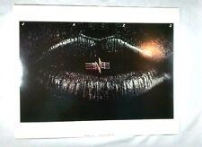 Jazz Music Art Poster Julius Friedman Lips Neon 11 x 14