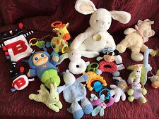 Baby Toy Bundle X 14 Stuffed Toy Animal Rattle  Bunny Glow Worm Etc Soft  Xmas