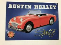 "Vintage 1998 Austin Healey Sprite Petroliana Breweriana Metal Sign 16""x12"""