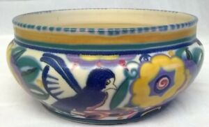 POOLE POTTERY CARTER STABLER ADAMS QB COMICAL BIRD SHAPE 227 BOWL NELLIE BISHTON
