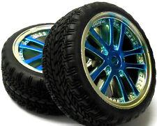 A250089 1/10 En Carretera Suave carretera pisada Coche Ruedas y neumáticos 10 habló Luz Azul 4