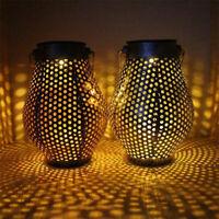 LED Solar Gartenlicht Solarleuchte Lampe Hängen Wasserdicht Beleuchtung DE