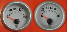 S4 Universal 52mm Oil Pressure & Oil Temp gauge Ideal for kit/Project /Track car