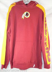NFL Washington Redskins Logo on Red Powerhouse Hooded Pullover Sweatshirt Large