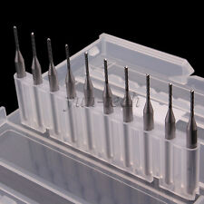 10x Tungsten Steel Blade 1.0mm Carbide PCB End Mill CNC/PCB Milling Machine