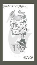 Reproduction Vintage Santa Face Apron Sewing Pattern D7100