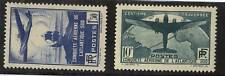 FRANCE MLH STAMP Yv#320/1 $554 Sc#C16/7 Ship Plane