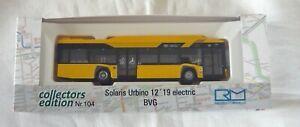 Rietze coll. ed. 104 (76803), Solaris Urbino 12´19 electric, BVG, 1/18, NEU&OVP
