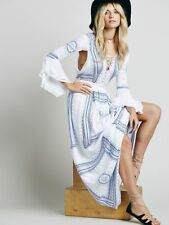 The Jetset Diaries Free People Santorini Blue Boho Festival Maxi Dress S NWT