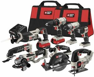 PORTER-CABLE Lithium Li-ion Cordless Combo Kit with Soft Case 8-Tool 20-Volt Max