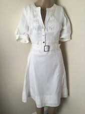 KAREN MILLEN New White Lined Interview Evening Party Dress Very STYLISH 8/ 10