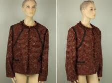 BLACK LABEL by CHICO'S Amber Boucle Tweed Embellished Trim Jacket Blazer 3