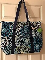 Vera Bradley Authentic Large Cooler Tote Bag in Katalina Blues purse bag NWT