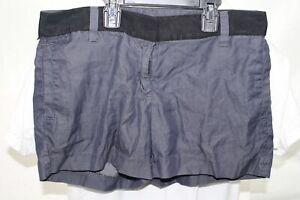"J. Crew Womens Size 2 Chino Dress Shorts Grayish Blue 3.5"" Inseam Zip Cotton EUC"