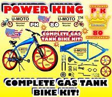 Gas Tank Frame Bike With Mag Wheels For 2-Stroke 66cc/80cc Motorized Bike Kits