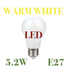 2 X Diall LED  Lamp Warm White 5.2W = 40W Light Bulb ES E27 Screw Dimmable