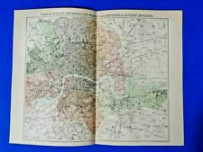 More details for antique 1865 plan of london, metropolitan burghs and southern & eastern environs