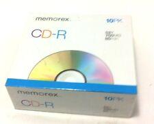 Memorex CD-R 10 pack 52X 700 MB 80min Brand new sealed!